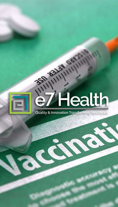 Vaccination Syringe with e7 Health Logo