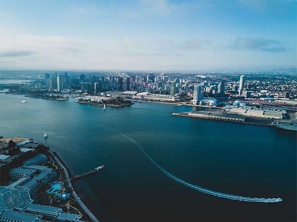 aerial view of san diego